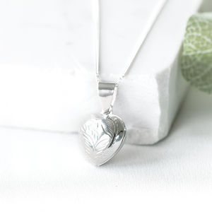 Silver Heart Photo Locket - necklaces & pendants