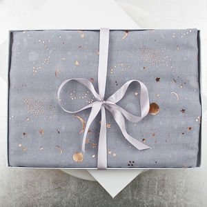 Rose Gold Foil Galaxy Cotton Scarf - winter sale
