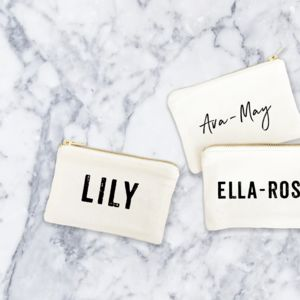 Personalised Canvas Purse
