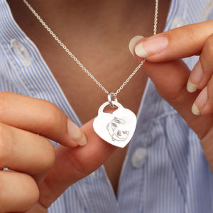 18ct Gold Or Silver Story Book Initial Necklace