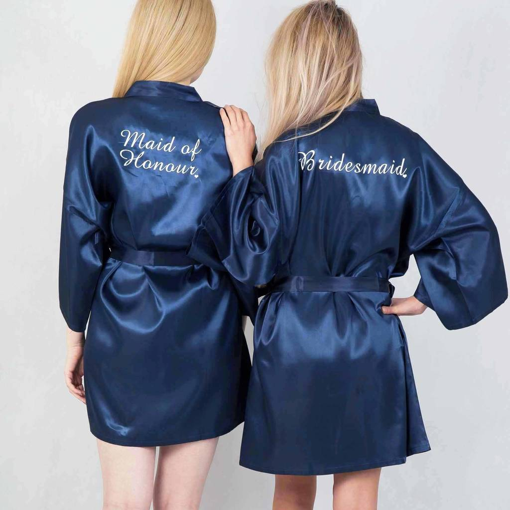 Personalised Swirl Dressing Gowns For The Bridal Party