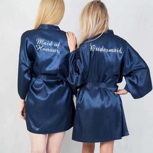 Personalised Swirl Dressing Gowns For The Bridal Party - bridesmaid gifts