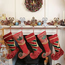 Luxury Elf Boot Christmas Stocking Collection