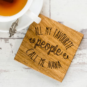 Personalised All My Favourite People Coaster - gifts for grandmothers