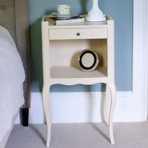 French Cream Bedside Table With Drawer