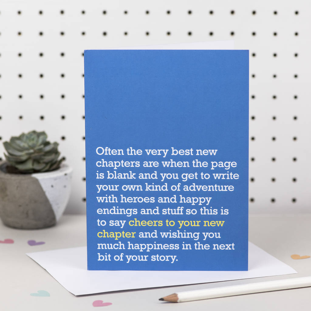 Good Luck Cards And Gifts Notonthehighstreet
