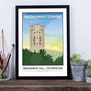 Broadway Tower, Cotswolds, Worcestershire Print - shop by price