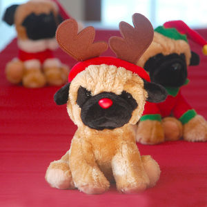 Doug The Pug At Christmas - soft toys & dolls