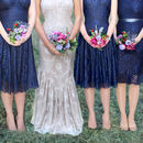 Bespoke Lace Bridesmaid Dresses Midnight Blue