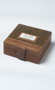 Harris Tweed Cufflink And Watch Trinket Box