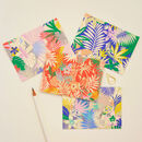 Gift Set Of Eight Tropical Print Notecards