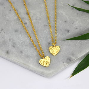 Children's 24ct Gold Plated Heart Charm Necklace - what's new