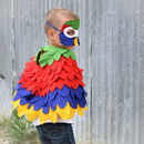 Colourful Parrot Mask And Wing Cape Children's Costume
