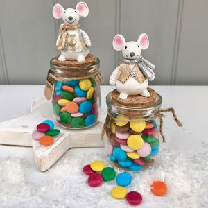 Chocolate Bean Filled Mouse Jar