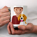 Personalised Dog Dad Gift Mug, All Breeds Available