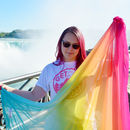 Bright And Colourful Rainbow Scarf