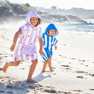 Personalised Micro Fibre Beach And Swim Poncho - towels & bath mats