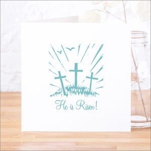 Single Or Pack Of 'He Is Risen' Easter Cards
