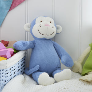 Knitted Monkey Soft Toy - baby toys