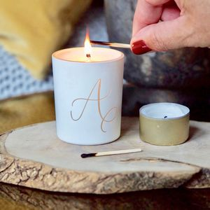 Calligraphy Initial Scented Votive