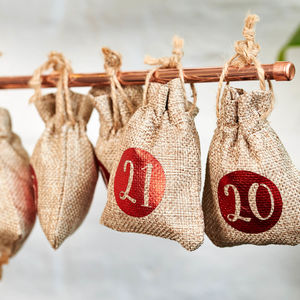 24 X Christmas Advent Calendar Tree Hanging Sacks - advent calendars