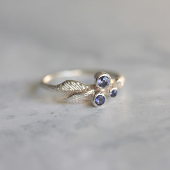 Silver Iolite Berry Ring