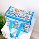 Personalised Blue Car Lunch Bag