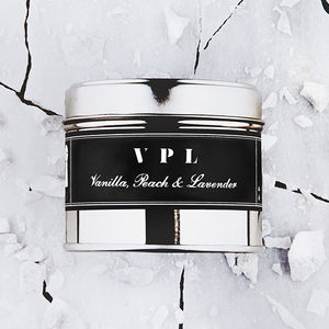 Fun Scented Candle 'Vpl' Vanilla, Peach And Lavender - candles & home fragrance