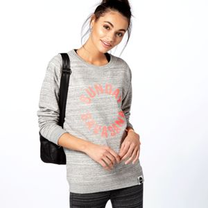 Sunday Savasana Sweatshirt, Grey - slogan fashion trend