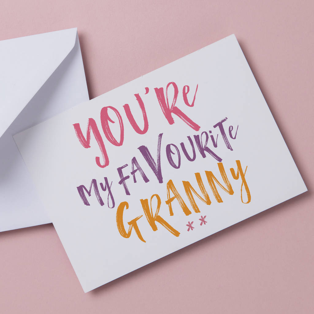 Favourite Grandma Funny Birthday Or Mothers Day Card