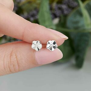 Tiny Forget Me Not Silver Stud Earrings
