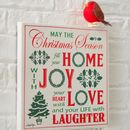 Canvas Vintage Style Christmas Sign
