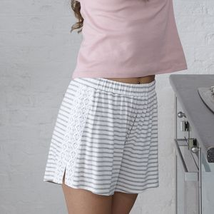 Stripe Jersey Sleep Shorts - lingerie & nightwear
