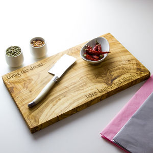 Personalised Wooden Serving/Chopping Board - foodies