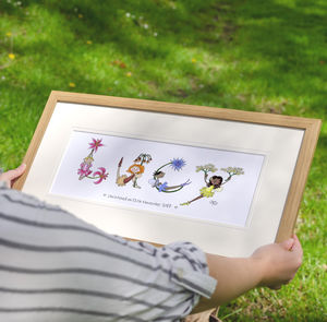 Personalised Girl's 'Fairy Name' Children's Print - personalised gifts