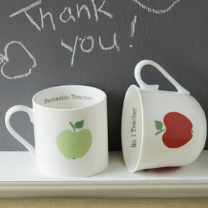 Personalised Thank You Teacher Bone China Cup Or Mug