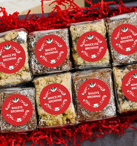Christmas Baileys And Mince Pie Brownies Gift Box