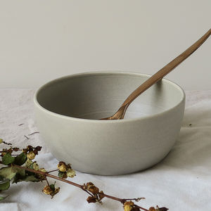 Hand Thrown Ceramic Stoneware Cereal Bowl - kitchen