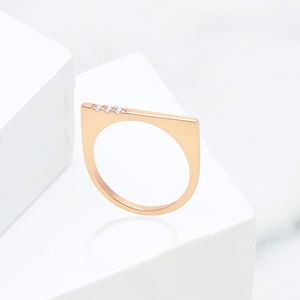 Rose Gold Ring With Gemstones | Minerva Bar - heartfelt gifts for her