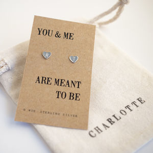 Personalised Heart Earrings
