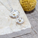 Silver Double Daisy Necklace