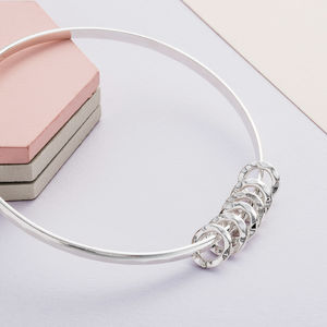 60th Birthday Silver Bangle - 60th birthday gifts
