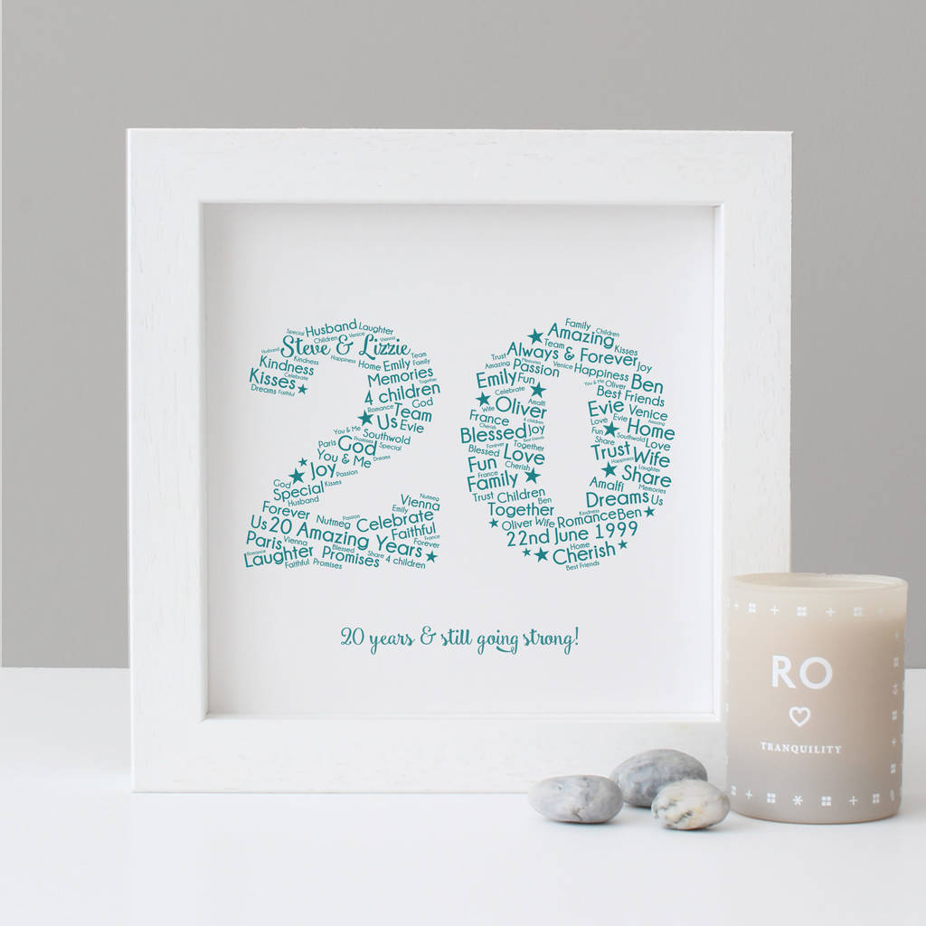 Personalised 20th Wedding Anniversary Gift By Hope And Love Notonthehighstreet Com