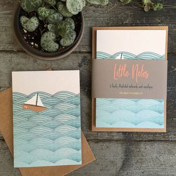 Sailboat Notelet Gift Set