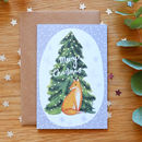 Illustrated Fox Recycled Christmas Card
