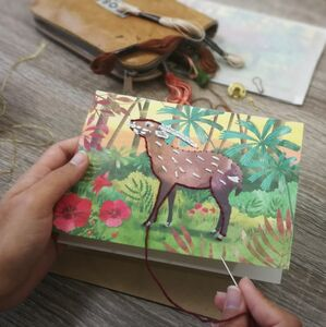Embroider Me Saola Greeting Card