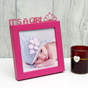 'It's A Girl!' Mini Photo Frame - picture frames