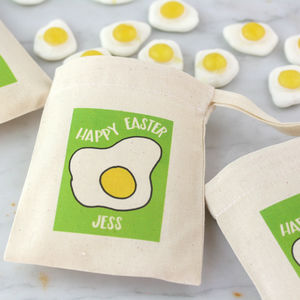 Fried Egg Easter Bag With Sweets Or Chocolate - personalised