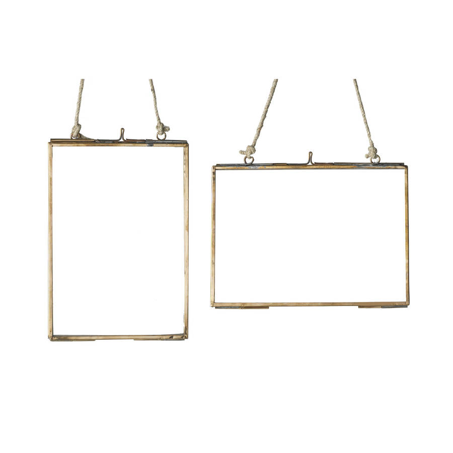 medium copper glass hanging frame