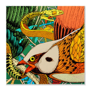 Eden Bird Pocket Square